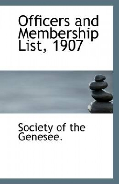 Officers and Membership List, 1907