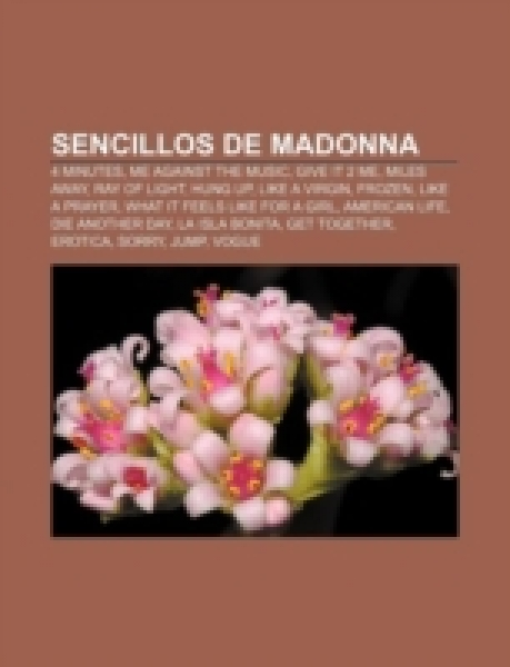 Sencillos de Madonna: 4 Minutes, Me Against the Music, Give it 2 Me, Miles Away, Ray of light, Hung Up, Like a Virgin, Frozen, Like a Prayer