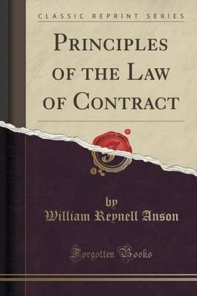 Principles of the Law of Contract (Classic Reprint)