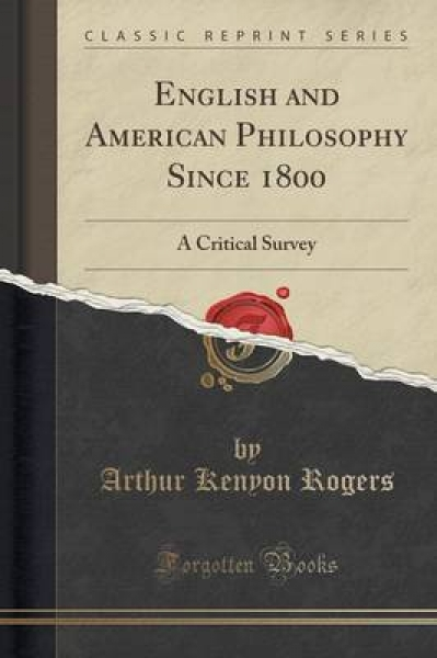 English and American Philosophy Since 1800