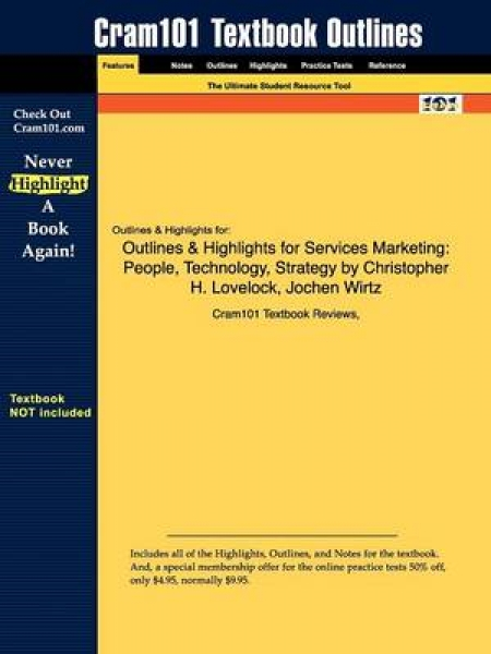 Outlines & Highlights for Services Marketing Cram101 Textboo New Paperback Free