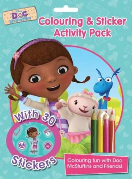 Disney Doc McStuffins Colouring and Sticker Activity Pack New Paperback Free UK