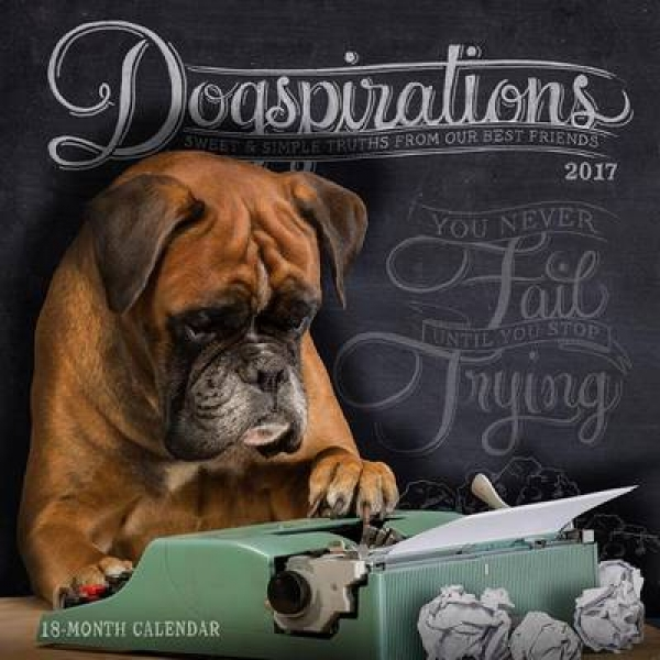 2017 Dogspirations Wall Calendar New Paperback Free UK Post
