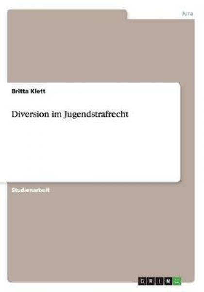 Diversion Im Jugendstrafrecht