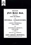 Military Field Pocket Book 1811