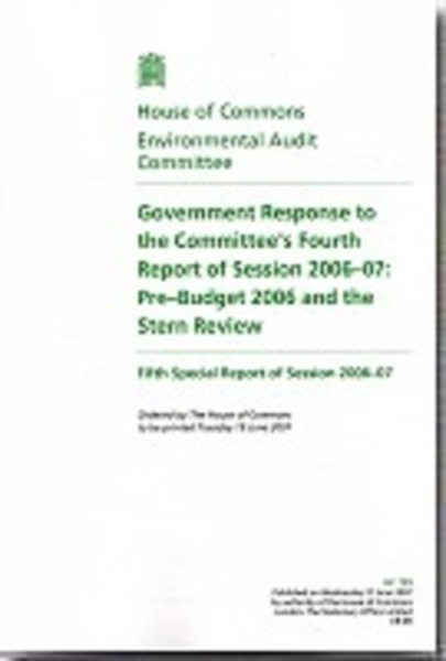 Government Response to the Committees Fourth Report of Session 2006-07 Great Bri
