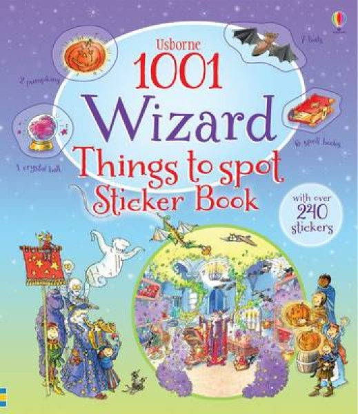 1001 Wizard Things to Spot Sticker Book Teri Gower Paperback New Book Free UK De