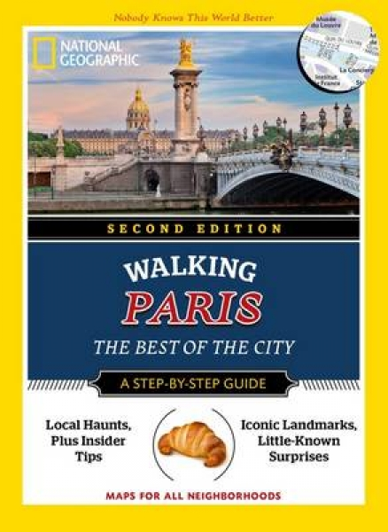 National Geographic Walking Paris 2nd Edition Pas Paschali Paperback New Book Fr