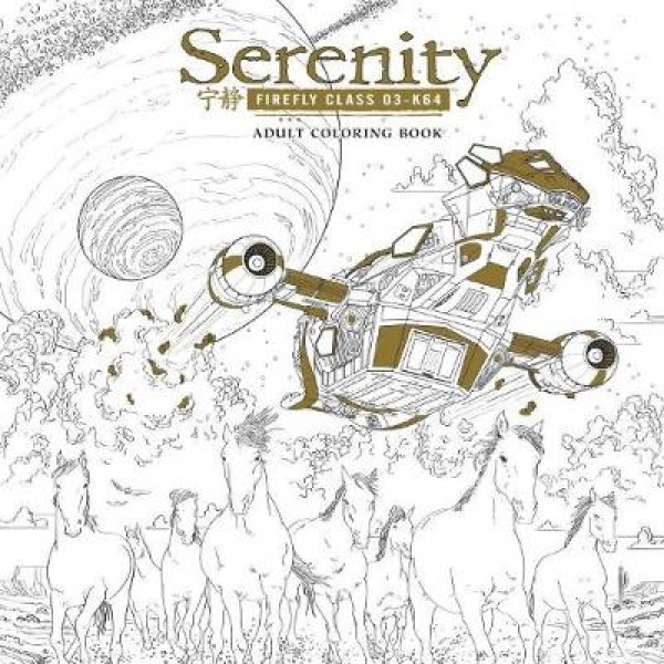 Serenity Adult Coloring Book Fox Paperback New Book Free UK Delivery