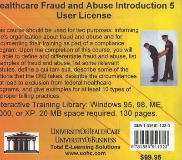 Healthcare Fraud and Abuse Introduction 5 Users Daniel Farb CD-ROM New Book Free