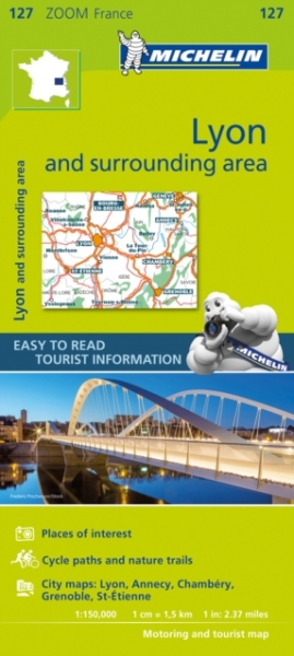 Lyon & Surrounding Areas Sheet map folded New Book Free UK Delivery